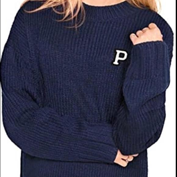 Victoria Secret Pink Boyfriend Sweater, Large
